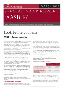 GAAP Consulting Special GAAP Report - AASB 16 Leases