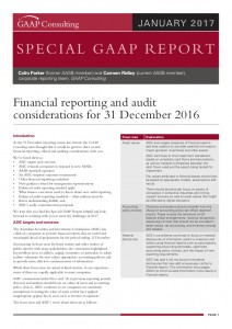 Special GAAP Report - Financial reporting & audit considerations January_2017