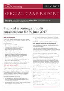 GAAP Special Report -Financial and auditing considerations for 30 June 2017 (July_2017)
